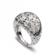Medium rounded ring white gold and diamonds MMDP-B-AN4980F