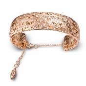 Bracelet large handcuff rose gold and diamonds - MMN-R-BR4973F