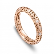 Narrow band ring rose gold and diamonds MMDP-R-AN4978F