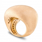 Ring in yellow Gold Satin - MES-G-AN4872FLSX