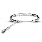Bracelet Small Handcuff White Gold Diamonds - MG-B-BR4345P