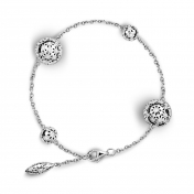 Bracelet 4 Globes White Gold Diamonds - MG-B-BR4332P