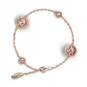 Bracelet 4 Globes Rose Gold Diamonds - MG-R-BR4332P