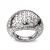 Medium Rounded Ring White Gold Diamonds - MG-B-AN4889F