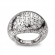 Medium Rounded Ring White Gold Diamonds - MG-B-AN4889F