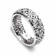 Band Ring White Gold Diamonds - MG-B-AN4845F