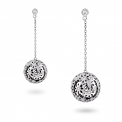 Earrings Large Globes White Gold Diamonds - MG-B-OR4359P
