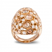 Ring in rose gold and diamonds - MC-R-AN2710T