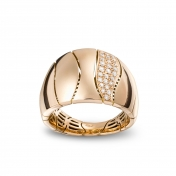 Small One Band Ring Rose Gold Diamonds - MCO-R4N-AN4900F