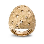 Large rounded ring rose gold and diamonds - MRU-R4N-AN5073F