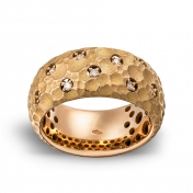 Band ring rose gold and diamonds - MRU-R4N-AN5075F