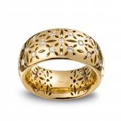 Anello fascetta alta oro giallo con diamanti - MG-G-AN4846F