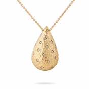 Necklace with pendant rose gold and diamonds - MRU-R4N-CO5074F