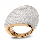 Ring rose gold diamonds pavè - ME-R4N-AN4872FSX