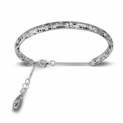 Bracelet small handcuff white gold and diamonds - MMN-B-BR4972F