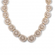 Collier rose gold, white gold and diamonds - MGI-R4N-CO5052F90