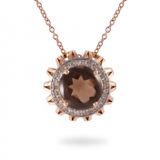 Marli Lollipop - Collana Quarzo Fumè, Oro Rosa e Diamanti MLPMX-R4N-CO112QZF