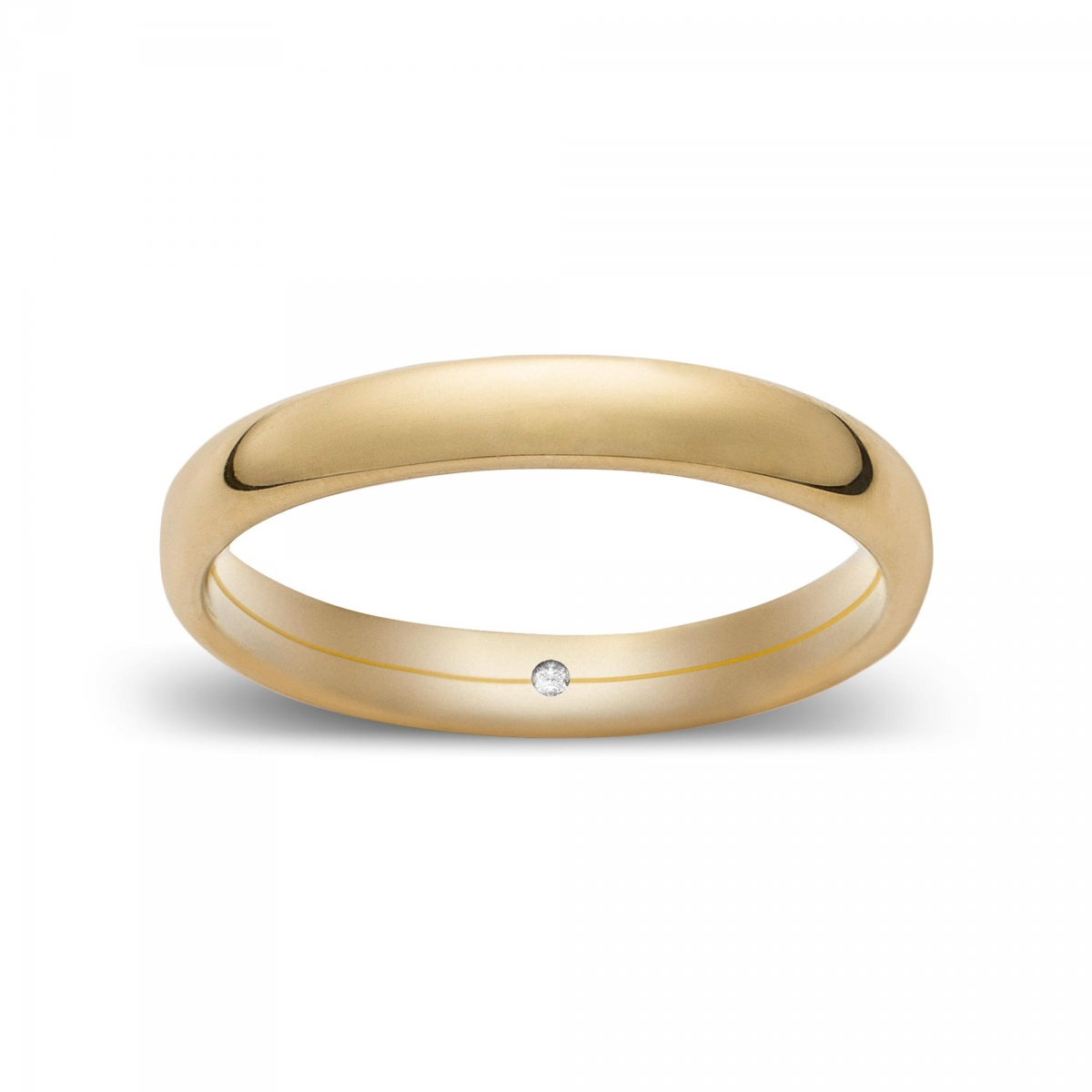 Wedding Ring Confort In Yellow Gold Giallopuro® ...