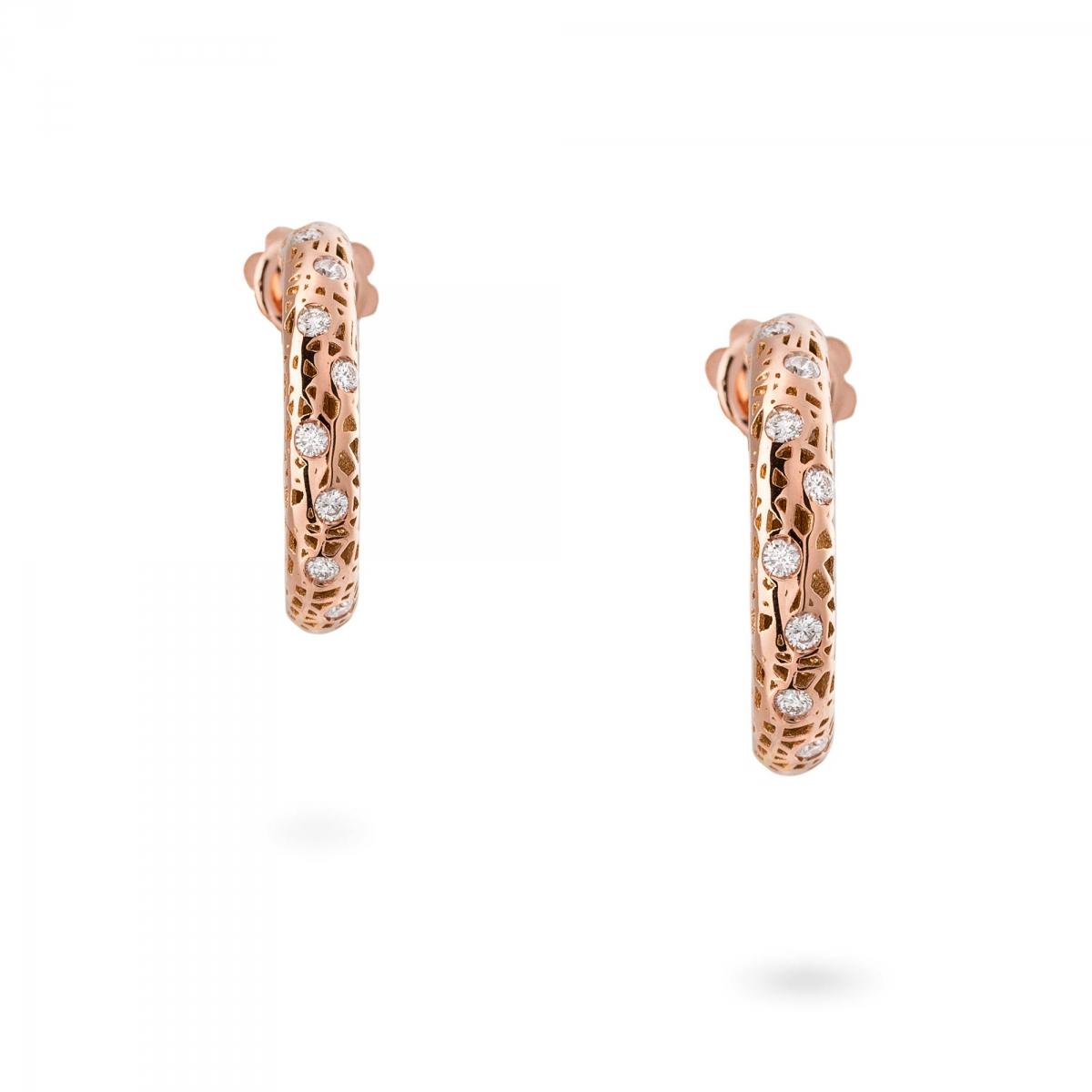 Preferenza Orecchini in oro rosa con diamanti > Orecchino cerchio piccoli  HS91