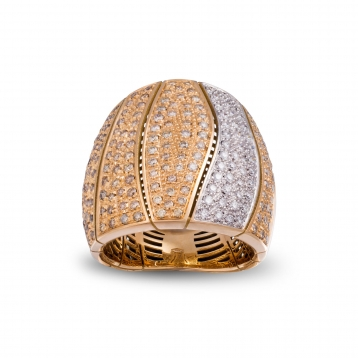 Anello Full Pavè Diamanti Oro Rosa - MCO-R4N-AN4898F