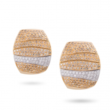 Earrings full pavè of diamonds in rose gold