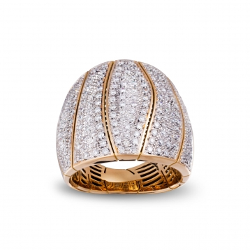 Ring in Rose Gold and Diamonds Full Pavè - MCOOV-R4N-AN4898F