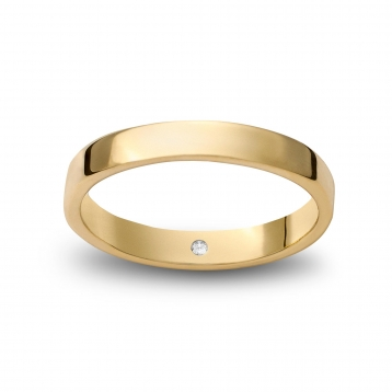 Wedding ring reguliere in yellow gold Giallopuro®