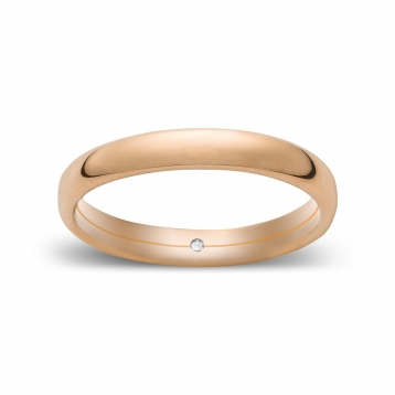 Wedding ring confort in pink  gold Rosatenue®