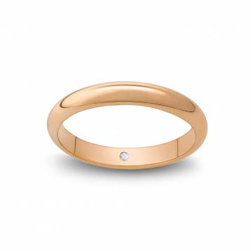 Wedding ring classique in pink gold Rosatenue®