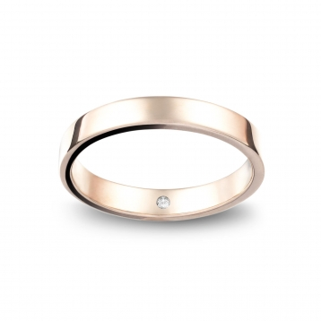 Wedding ring reguliere in white gold Biancoreale®