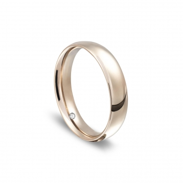 Navette wedding rings in white gold with diamonds