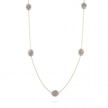 Collana in oro rosa e oro bianco con diamanti