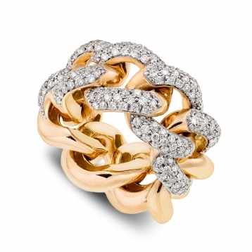 Ring in rose gold with diamonds