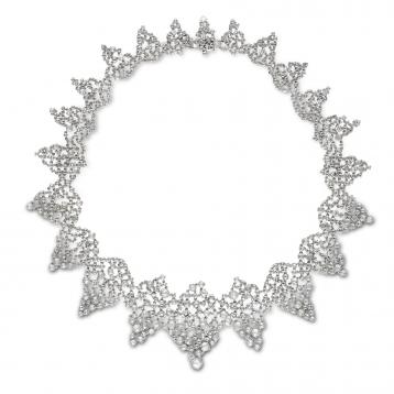 Collana Estasi in oro bianco e diamanti
