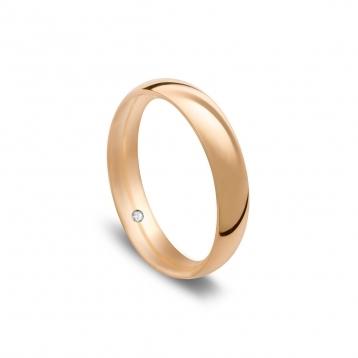 Wedding ring navette in rose gold Rosatenue®