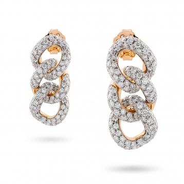 Orecchini in oro rosa e diamanti