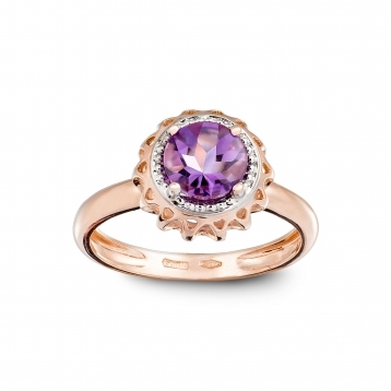 ROSE GOLD MINI RING AND AMETHYST