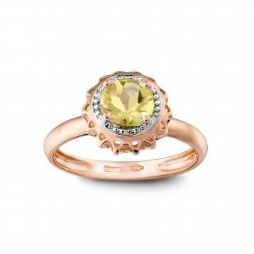 ROSE GOLD RING AND LEMON QUARTZ MLPMI-R4N-AN114QZL