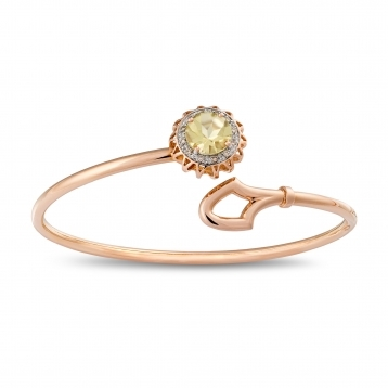 BRACELET LEMON QUARTZ, DIAMONDS AND ROSE GOLD MLP-R4N-BR114QZL