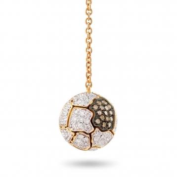 Orecchini Sfera Full Pavé In Oro Rosa e Diamanti
