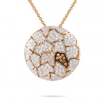 Necklace with Pendant Rose Gold Diamonds - MWS-R4N-CO4819F