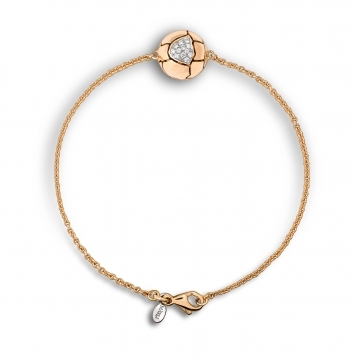 Bracelet in rose gold with diamonds
