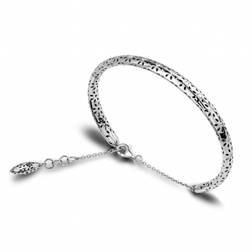 BRACELET SMALL HANDCUFF white gold diamonds