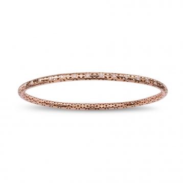 Bracciale cerchio oro rosa e diamanti
