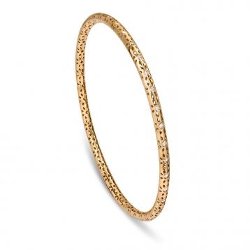 BRACELET CIRCLE yellow gold and diamonds