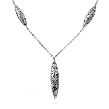 NECKLACE FIVE FUSEAUX white gold and diamonds