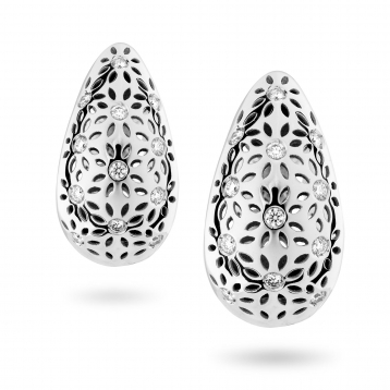 EARRINGS SMALL DROP white gold and diamonds