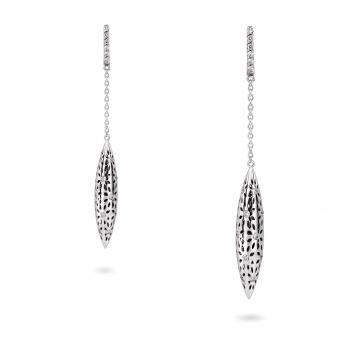 EARRINGs LARGE FUSEAUX white gold and diamonds