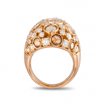 Ring in rose gold and diamonds