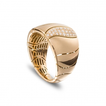 Small one band ring in rose gold and diamonds